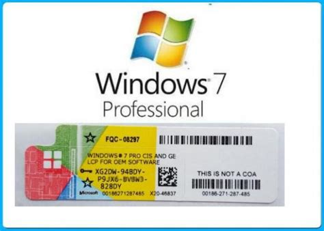 Oem Windows 7 Professional Original New Win 7 Pro 32 Bit 64 Bit microsoft windows 7 product key code win7 professional genuine oem license activation