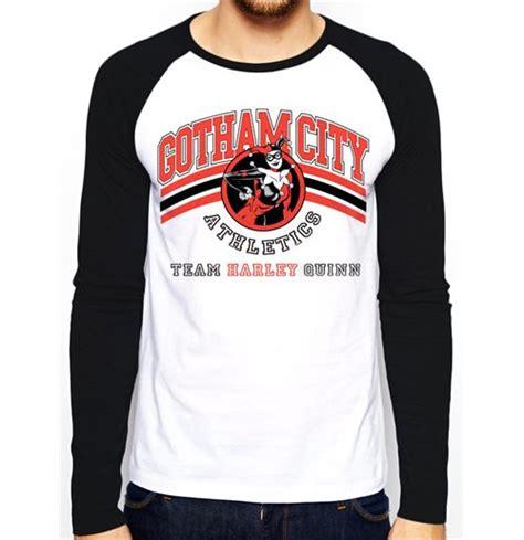 Raglan Harley Quinn batman team harley quinn raglan baseball t shirt unisex