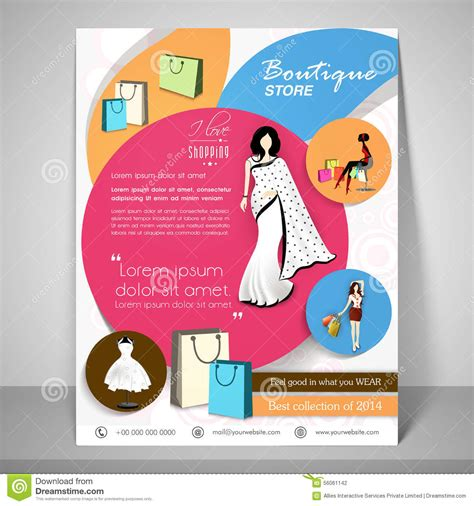 boutique flyer template free boutique store template banner or flyer design stock photo image 56061142