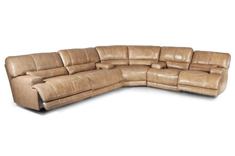 leather sectional recliner hamlin 3 piece power reclining leather sectional at