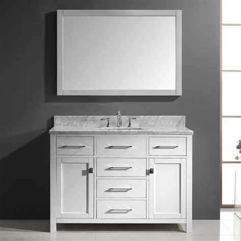 Bathroom Vanities Usa Shop Virtu Usa Caroline White Undermount Single Sink Bathroom Vanity With Marble Top