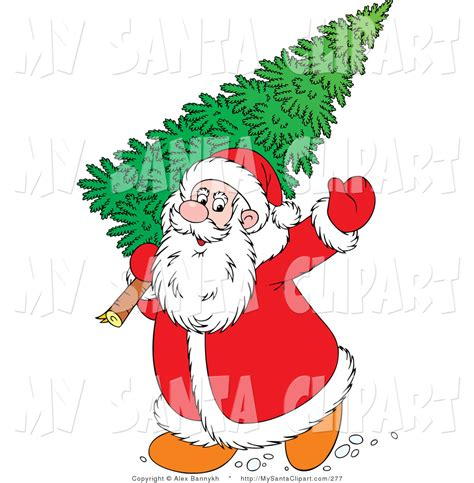 christmas tree clipart santa claus pencil and in color