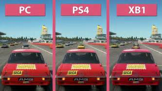 Kaset Ps4 Project Cars 2 project cars 2 pc vs ps4 vs xbox one graphics comparison