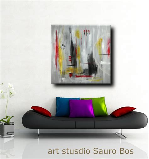 quadri d arredamento moderni quadri moderni 120x120 olio su tela sauro bos