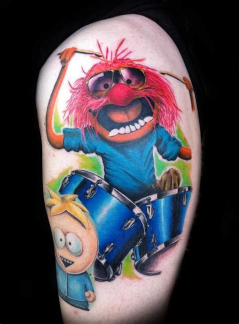 muppet tattoo animal by greg sumii muppets animal color