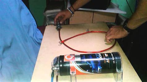 capacitor de audio para que sirve como conectar y cargar un capacitor