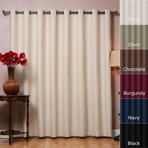 100 blackout curtains wide width grommet top thermal blackout curtain 100 quot w x 84