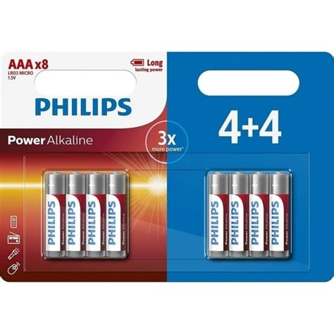 Baterai Philips Powerlife Alkaline Aaa 2 Pack philips power alkaline aaa batteries pack of 8 home appliances from powerhouse je uk