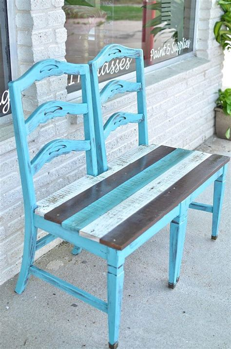 diy chair bench 10 awesome diy front porch bench ideas