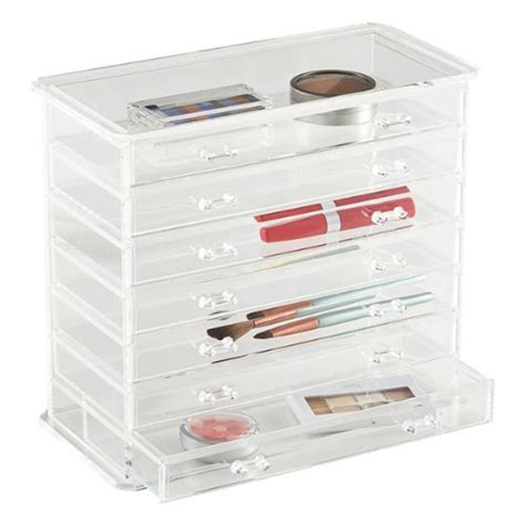 Acrylic Jewelry Organizer Drawers by Home It 7 Drawer Acrylic Jewelry Chest Or Cosmetic