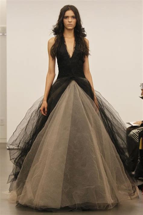 Wedding Dresses Black by Snuggle S Vera Wang Debuted A Line Of Black