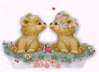imagenes de amor con ositos animados imagen de amor con dos ositos tiernos