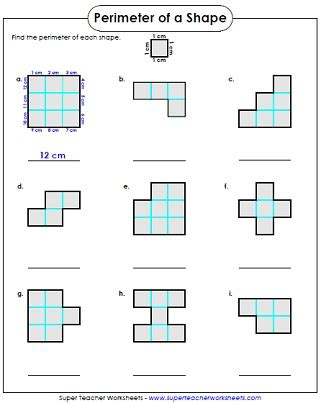 3rd Grade Perimeter Worksheets by Perimeter Worksheet 3rd Grade 3rd Grade