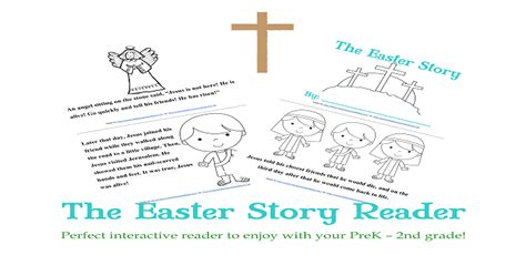 printable children s version of the easter story free the easter story reader for prek 2nd grade free