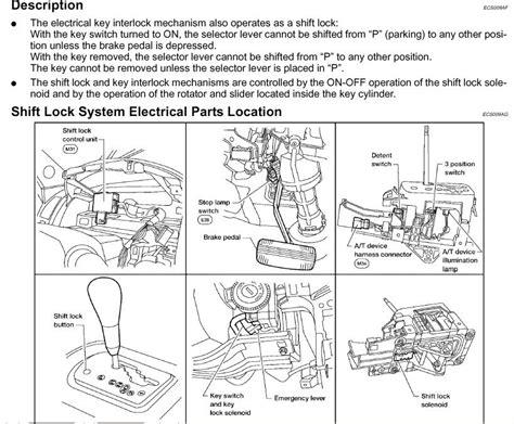 transmission control 2006 nissan altima regenerative braking hard to shift out of park nissan titan forum