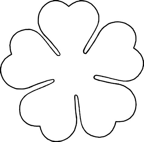 flower template 5 petals flower petal shape template clipart best