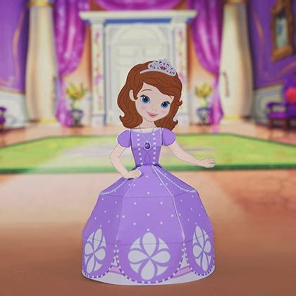 Disney Paper Craft - sofia 3d papercraft disney family