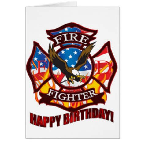 Firefighter Birthday Cards Firefighter Greeting Cards Zazzle
