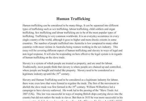 research paper on slavery human trafficking in australia this essay will be