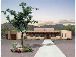 Adobe Style Home Eplans Adobe House Plan Desert Retreat 2015 Square