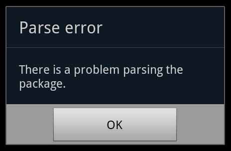 how to fix apk parse error there was a problem parsing the package error fixed
