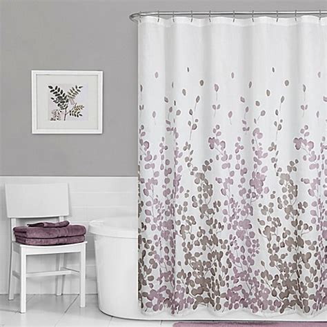 leaf print shower curtain maytex leaf print shower curtain in purple bed bath beyond
