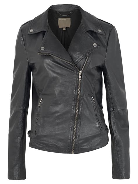 biker jacket muubaa tehmi leather biker jacket in black
