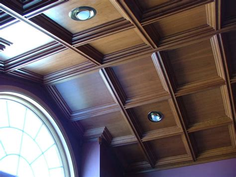 Suspended Coffered Ceiling Cathedral Coffered Ceiling For Home Office Traditional