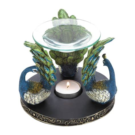 decorative gifts for the home peacock plume oil warmer all wholesale gifts