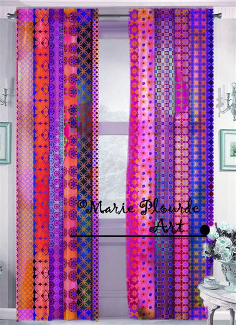 bohemian sheer curtains bohemian sheer window panels curtains scarfs by