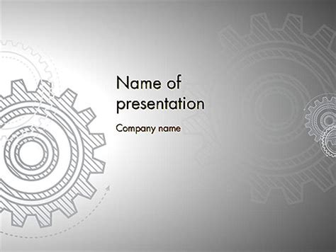 powerpoint templates for mechanical engineering presentation mechanical gears draft powerpoint template backgrounds