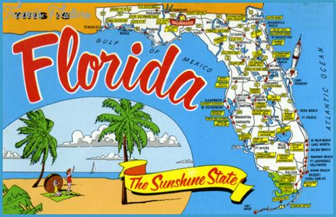 10 Cool Attractions In Florida by Florida Map Tourist Attractions Travelsfinders