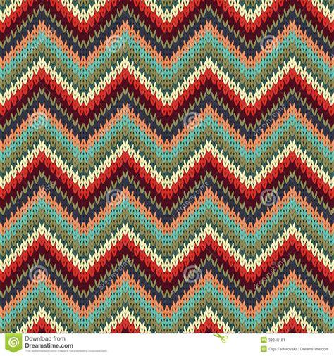 how to knit a zigzag pattern seamless zigzag knitting pattern stock image image 38248161