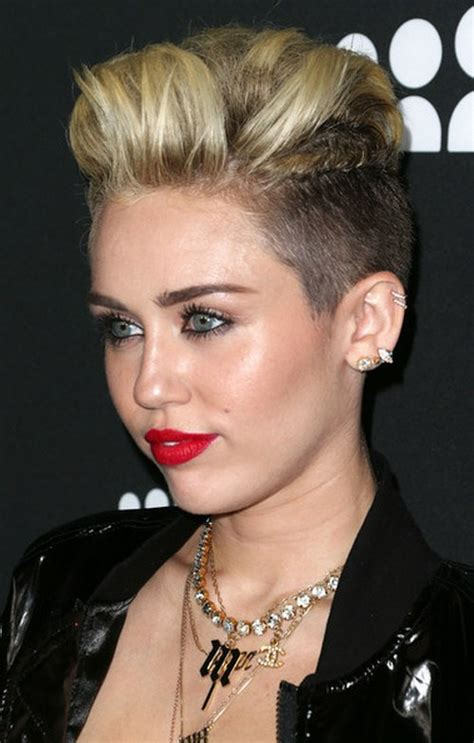 the name of mileys haircut miley cyrus short spiked punk miley cyrus haircuts and hairstyles 20 ideas for hair of