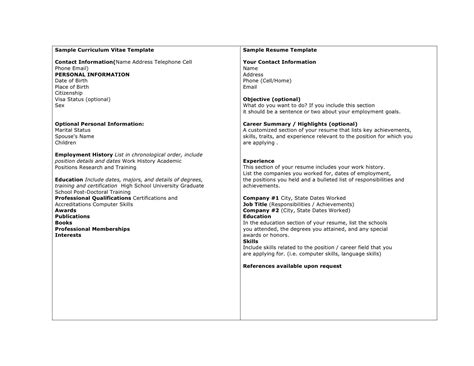 curriculum vitae order ideal vistalist co