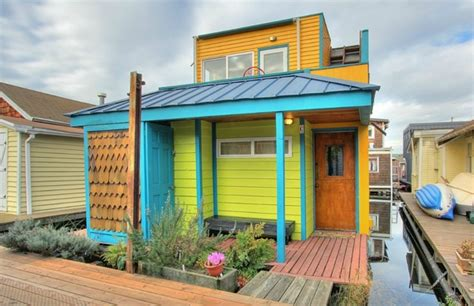 fanciest tiny house 740 sq ft fancy n funky floating home in seattle tiny