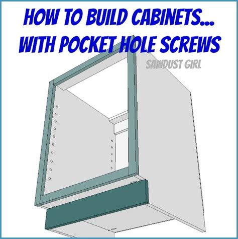 how to build a canstruction project how to build a cabinet with pocket hole screws sawdust girl 174