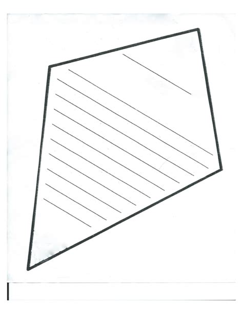 Tetrahedron Kite Template by Blank Kite Template Free