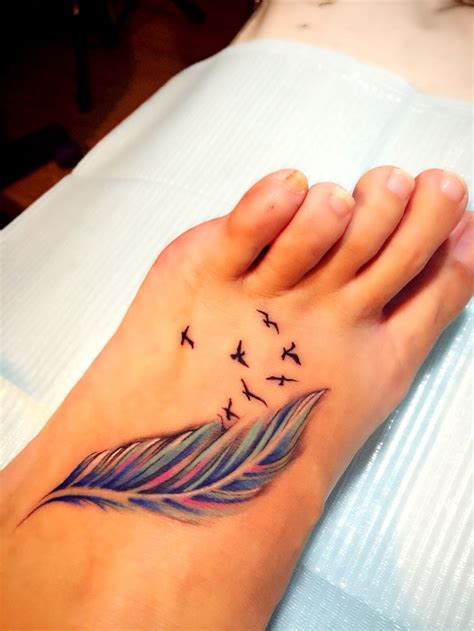 feather with birds tattoo tattoo collections