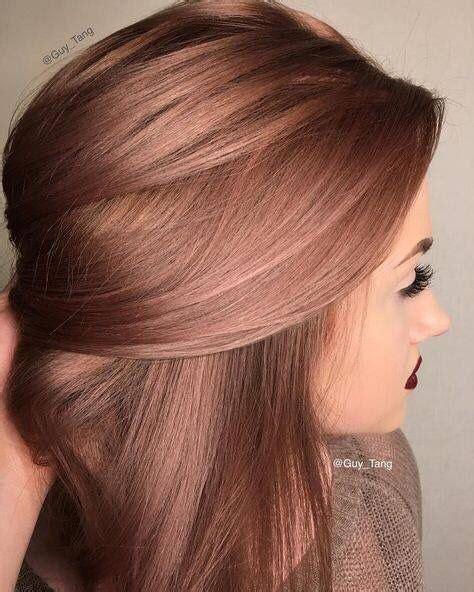 brunette rose gold hair image result for rose gold hair brunette angled bob my