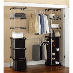 Where To Buy Closet Organizers Mainstays Closet Storage Silver Black Walmart