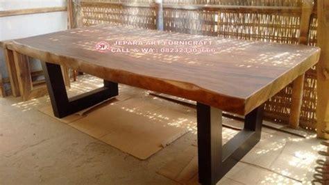 Tilavie Meja Telepon Brown best seller meja makan trembesi alami 250x100 cm murah