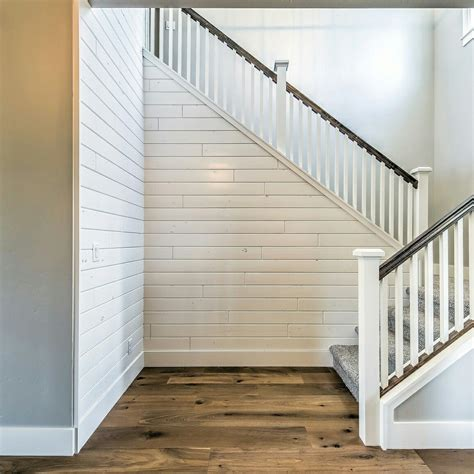 shiplap on stairs shiplap accent wall with sherwin williams westhighland