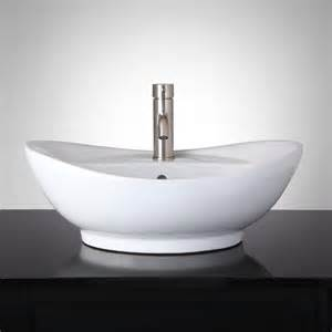 bathrooms with vessel sinks valor oval vessel sink bathroom
