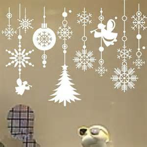 removable christmas snowflake string vinyl wall stickers