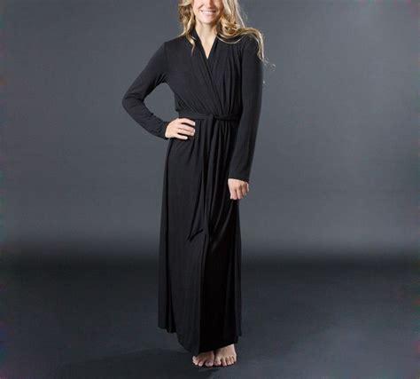 jersey robe pattern matchplay long luxury knit robe luxury loungewear