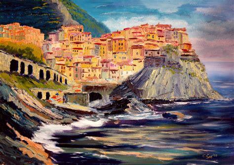 Painting U by Paintings Of Manarola And Camogli Christian Seebauer
