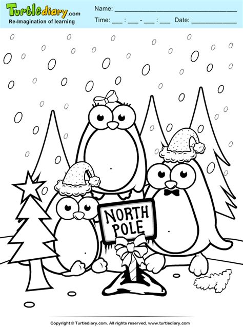 perfect north pole coloring page with north pole coloring