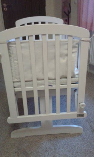 White Baby Crib For Sale by White Wooden Glider Baby Crib For Sale In Claremorris
