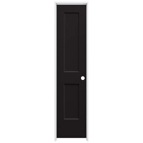 20 Interior Door Jeld Wen 20 In X 80 In Black Painted Left Smooth Solid Molded Composite Mdf